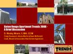 Baton Rouge Apartment Trends 2008 - A Brief Discussion