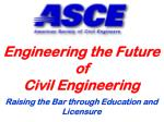 Engineering the Future of Civil Engineering