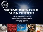 Grants Compliance from an Agency Perspective