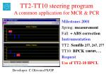 TT2-TT10 steering program A common application for MCR & PCR