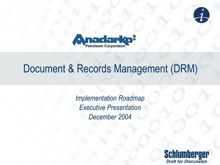 document records management drm n.