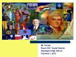Mr. Polites Room 323 - Social Studies Newington High School February 1, 2012