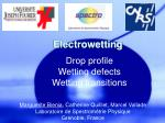 Electrowetting