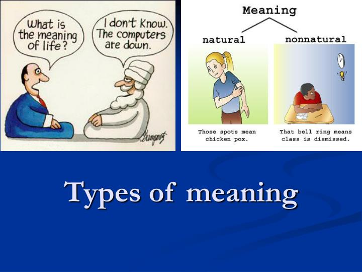 types of meaning n.