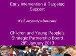 Involve children and  young people and their families