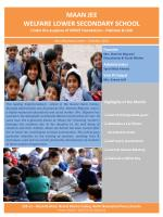 MAAN JEE  WELFARE LOWER SECONDARY SCHOOL Under the auspices of MOVE Foundation – Pakistan & USA