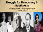 Struggle for Democracy in South Asia