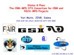 Status & Plans The CBM-MPD STS Consortium for CBM and NICA-MPD Projects