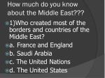 How much do you know about the Middle East???