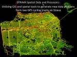 STRAVA Spatial Data and Processes: