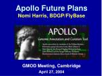 Apollo Future Plans Nomi Harris, BDGP/FlyBase