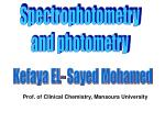 Spectrophotometry  and photometry