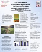 Short Course in Biodynamic Agriculture The first BIO-technology