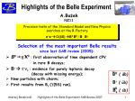 Highlights of the Belle Experiment
