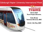 Edinburgh Napier University International Week