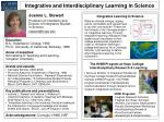 Integrative and Interdisciplinary Learning in Science