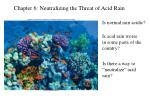Chapter 6: Neutralizing the Threat of Acid Rain