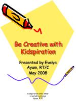 Be Creative with Kidspiration
