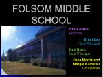 FOLSOM MIDDLE SCHOOL