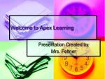 Welcome to Apex Learning