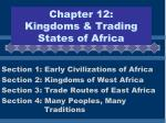 Chapter 12:  Kingdoms & Trading States of Africa