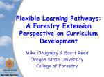 Flexible Learning Pathways: A Forestry Extension Perspective on Curriculum Development