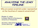 ANALYZING THE LEAKY PIPELINE: