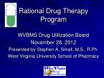 Rational Drug Therapy Program Attachment D