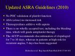 Updated ASRA Guidelines (2010)