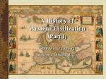 A History of Western Civilization ( Part I)