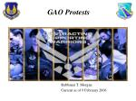 GAO Protests