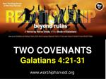 TWO COVENANTS Galatians 4:21-31
