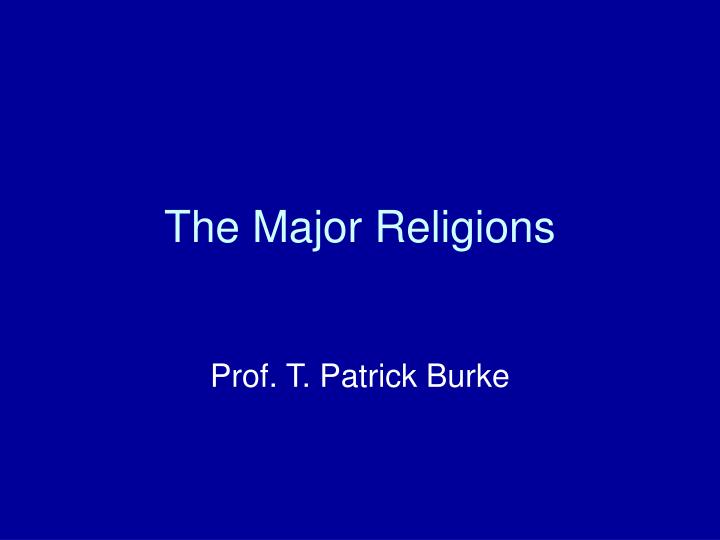the major religions n.