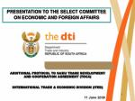 ADDITIONAL PROTOCOL TO SA/EU TRADE DEVELOPMENT AND COOPERATION AGREEMENT (TDCA)