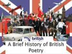 A Brief History of British Poetry