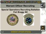 Special Operations Recruiting Battalion Fort Bragg, NC