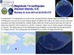 Magnitude 7.9 earthquake Aleutian Islands, U.S.