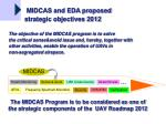 The MIDCAS Program is to be considered as one of the strategic components of the UAV Roadmap 2012