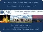 Polaris Financial Technologies Welcomes the members of Hyderabad chapter
