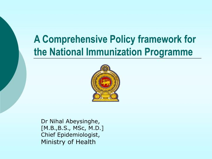 a comprehensive policy framework for the national immunization programme n.