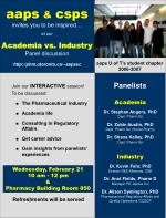 aaps & csps invites you to be inspired… at our Academia vs. Industry Panel discussion