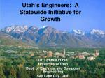 Utah's Engineers:  A Statewide Initiative for Growth