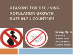 reasons for declining population growth rate in EU countries