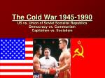 Chapter 29: US and Europe the Cold War