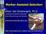 Marker-Assisted Selection