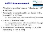 AMCP Announcement