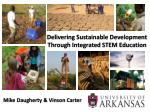Delivering Sustainable Development  Through Integrated STEM Education