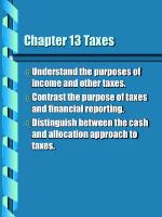 Chapter 13 Taxes