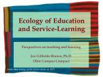 Ecology of Education and Service-Learning
