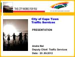 City of Cape Town Traffic Services